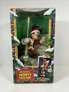 Mr Christmas Mickey Mouse Tree Top Animated Lighted Tree Topper 1994 W/box D1