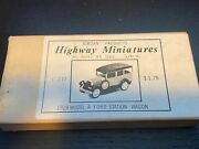 Ho Jordan Products Highway Miniatures Kit C-217 1929 Model A Ford Station Wagon