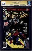 Amazing Spider-man 194 Cgc 9.4 Ss Ow/w Signed By Stan Lee 1st Black Cat