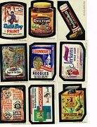 1974 Wacky Packages Series 6 Set 33 Stickers Plus Puzzle 9