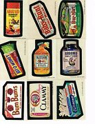 1974 Wacky Packages Series 7 Set 33 Stickers Plus Puzzle 9