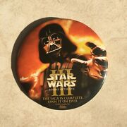 Star Wars Iii Revenge Of The Sith Button Promotional Pinback Badge Pin
