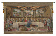 Last Supper By Rosselli Italian Tapestry - Wall Art Hanging For Decor 35x53 Inch