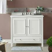 Williamsburg 36w White Wood Vanity Cabinet Only