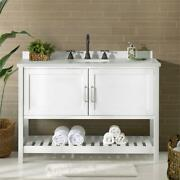 Bennet 48w White Wood Vanity Cabinet Only