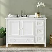 Williamsburg 48w White Wood Vanity Cabinet Only
