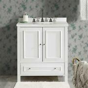 Williamsburg 30w White Wood Vanity Cabinet Only