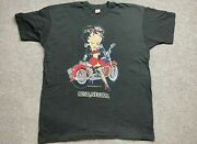 Vintage Betty Boop Shirt Mens 3 Extra Large 1992 Motorcycle Babe Adult Tee