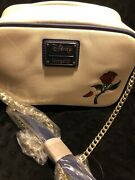 Loungefly Beauty And The Beast Laser Cut Stained Glass Crossbody Bag Handbag