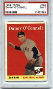 1958 Topps Psa 7 Nm Danny O'connell 166