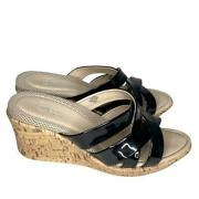 Easy Spirit Anti Gravity Sandals Slip Ones Wedges Womenand039s Size 9.5