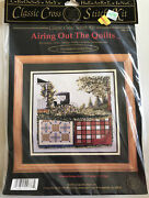 Cross My Heart Airing Out The Quilts Cross Stitch Kit Amish Buggy New 1999