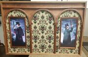 Disney Haunted Mansion Ride Dueling Ghosts Portrait Renditions With Wallpaper