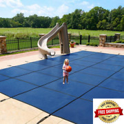15 Ft. X 30 Ft. Rectangular Blue In-ground Safety Pool Cover