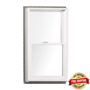29.625 In. X 52.875 In. 400 Series Double Hung White Interior Wood Windows