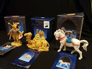 Lot Fontanini 5 Collection White Horse Sitting Camel And Angel Nib W Cards