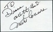Mike Connors Signed 3x5 Index Card Tv And Film Actor Mannix Tightrope Todayand039s Fbi