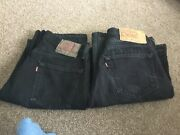 501 W30 L32 X 2 Used Black 2 X Pairs Straight Jeans Free Postage In Uk