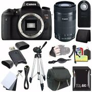 Canon Eos Rebel T6s Dslr Camera Body Only 0020c001 + Ef-s 55-250mm F4-5.6 Le