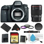 Canon Eos 6d Mark Ii Dslr Camera Body Only 3 Piece Filter W/memory Bundle + Ef
