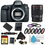 Canon Eos 6d Mark Ii Dslr Camera Body Only 9 Piece Filter W/memory Bundle + Ef