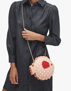Kate Spade Puffy Puffer Fish Crossbody Leather Bag Guava Juice New 328 Clutch