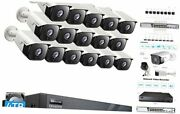 16 Channel 25921944p Poe Ip Security Camera System, 16ch H.265 Nvr 4tb Hdd,
