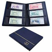 Ettonsun Leather 60-pocket Paper Money Album Currency Holders For Collectors ...