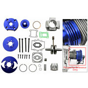 49cc 44mm Big Bore Cylinder Cnc Top End Kit Fit For Two Stroke Pocket Bikes