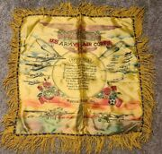 Wwii U.s. Army Air Corps Mother Silk/satin Pillow Case Sham - Spence Field Ga.