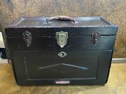 Antique Early Wood Machinist Toolbox By Craftsman / Wooden Tool Chest