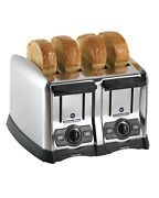 Proctor Silex Commercial Toaster 4 Slice Extra Wide 1.5 Slots Toast Boost 24850