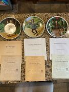 Knowles Set Of 7 Wizard Of Oz Plates With Boxes And Certificates Of Authenticity