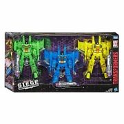 Transformers War For Cybertron Siege Rainmakers Seekers 3-pack Brand New