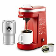 Single Serve Coffee Maker Brewer Attached Thermal Mug,12 Ounce Coffee Machine,