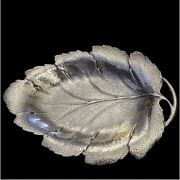 453 Grams Reed And Barton Sterling Silver Leaf Design Dish X281 Large Rare Heavy