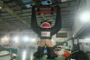 Oxford Cloth 25ft Inflatable Black Gorilla Advertising Promotion With Blower