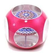 Baccarat Crystal Paper Weight Millefiori 1980 Vintage Used Japan First Shipping