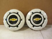 Lot Of 2 1968-72 Chevy 1/2 Ton Pickup Truck Van Painted Dog Dish Hubcaps 69 70
