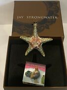 New In Box Jay Strongwater Starfish Christmas Ornament Crystals