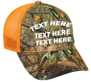 Cap Hat Custom Camo Safety Orange Business Dog Kennel Name Personalized 12 Caps