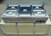 New Commercial 110v 5-pan Bain-marie Buffet Food Warmer 41/2 Pan+1 Full Size Us