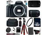 Canon Eos Rebel Sl2 Dslr Camera +18-55mm Is Stm Lens And 75-300mm Iii Lensxible Tr