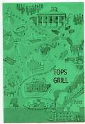 Tops Grill Menu Natchez Mississippi 1950and039s Pictorial Cover