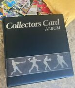 A Binder Of Sports Trading Cards. All Different Brands And Makes And Players