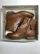 New Mudd Women Size 8.5 Cognac/ Brown Ankle/boots Shoes Dress Casual