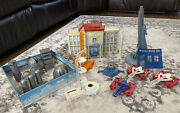 1950s-60s Marx Cape Canaveral Rocket / Missile / Military Space Themed Play Set