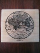 The Open Sea World Globe Stampin' Up Wm Rubber Stamp Clean