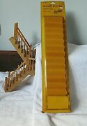 Vintage Doll House Wooden Staircases 2 Pieces Houseworks