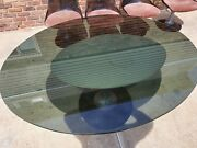 Vintage Mcm Chromcraft Dining Set-oval Glass Table 4 Lucite Chairs